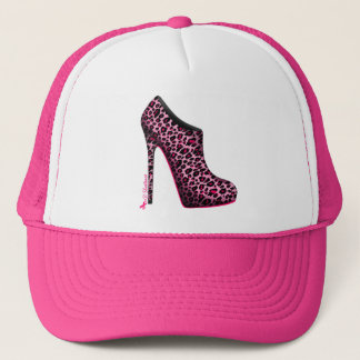 Breast Cancer Awareness Leopard Bootie cap