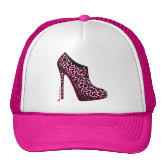 Breast Cancer Awareness Leopard Bootie cap