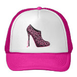 Breast Cancer Awareness Leopard Bootie cap Hat