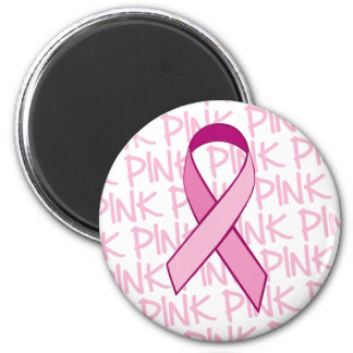 Breast Cancer Awareness Magnet - Pink Ribbon