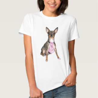Breast Cancer Awareness Manny the Merle Chihuahua Shirt