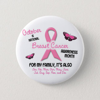 Breast Cancer Awareness Month 6 Cm Round Badge