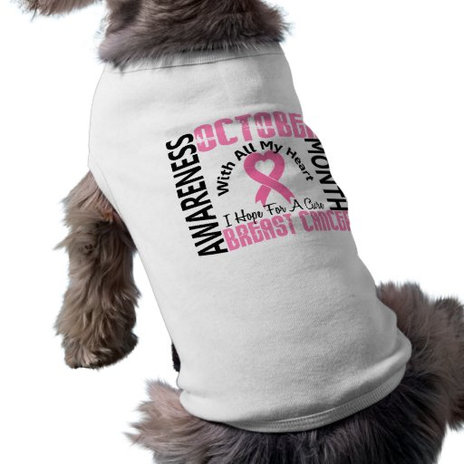 Breast Cancer Awareness Month Doggie Tshirt