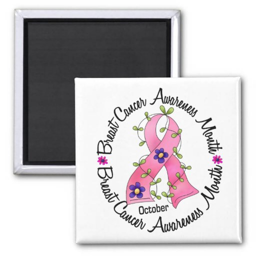 Breast Cancer Awareness Month Refrigerator Magnets