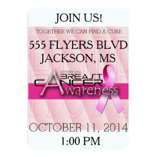 Breast Cancer Awareness Month - Pink Personalized Invites