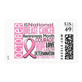 Breast Cancer Awareness Month Ribbon I2 1.3 Postage Stamp