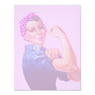 Breast Cancer Awareness Month, Rosie the Riveter 11 Cm X 14 Cm Invitation Card