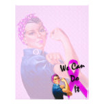 Breast Cancer Awareness Month, Rosie the Riveter 21.5 Cm X 28 Cm Flyer