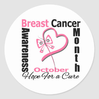 Breast Cancer AWARENESS Month Round Stickers