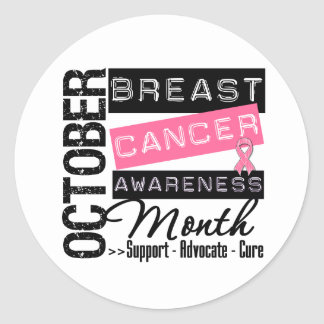 Breast Cancer AWARENESS Month Round Sticker