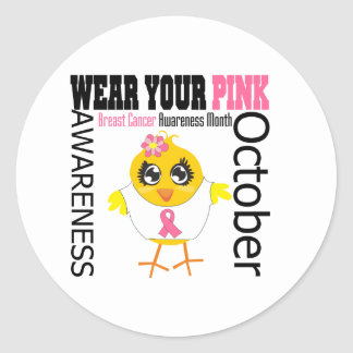 Breast Cancer Awareness Month v1 Round Sticker
