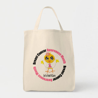 Breast Cancer Awareness Month v2 Grocery Tote Bag