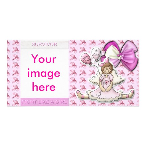 Breast cancer awareness photo card