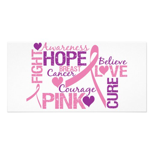 Breast Cancer Awareness Custom Photo Card