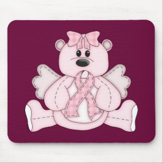 Breast Cancer Awareness Pink Bear Mouse Pads