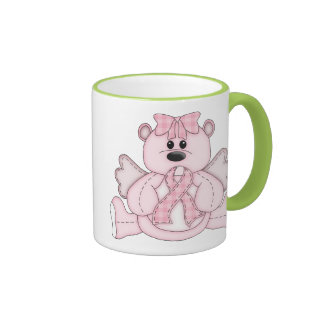 Breast Cancer Awareness Pink Bear Ringer Mug