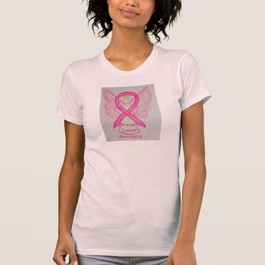 Breast Cancer Awareness Pink Ribbon Angel Shirt
