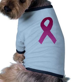 Breast cancer awareness pink ribbon dog clothing