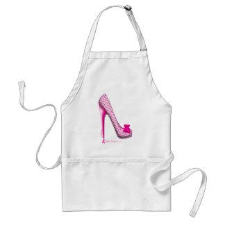 Breast Cancer Awareness Pink Ribbon Heel Aprons