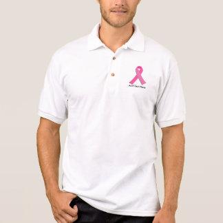 Breast cancer awareness pink ribbon polo t-shirts