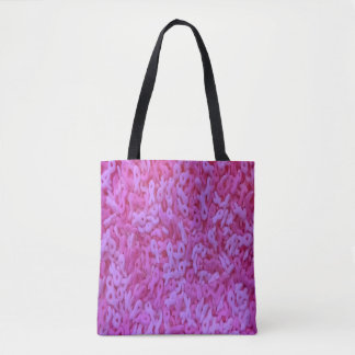 Breast Cancer Awareness pink ribbon tote