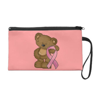 Breast Cancer awareness purse wristlet