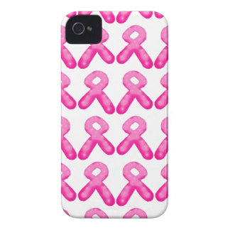Breast Cancer Awareness Ribbon Candle Pattern iPhone 4 Case-Mate Cases