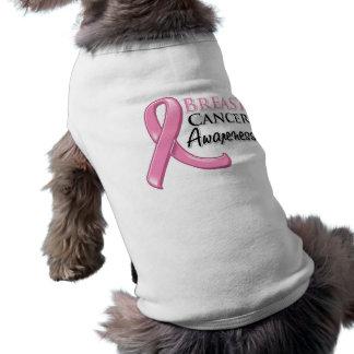 Breast Cancer Awareness Ribbon Pet Tee Shirt