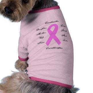 Breast Cancer Awareness Ribbon Doggie's T-shirt Pet T-shirt