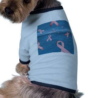 Breast Cancer Awareness Ribbons in the Sky Ringer Dog Shirt