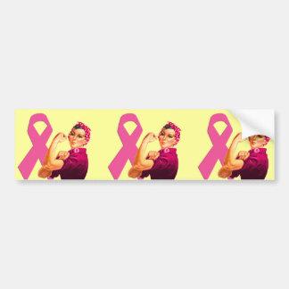 Breast Cancer Awareness Rosie the Riveter Bumper Sticker