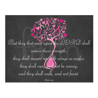 Breast Cancer Awareness Scripture Postcards