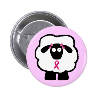 Breast Cancer Awareness Sheep Button