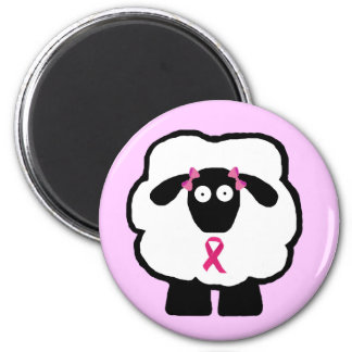 Breast Cancer Awareness Sheep Magnet