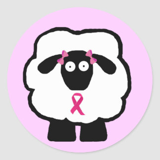 Breast Cancer Awareness Sheep Stickers