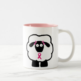 Breast Cancer Awareness Sheep Two-Tone Mug