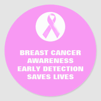 Breast cancer awareness slogan | Personalized Round Sticker