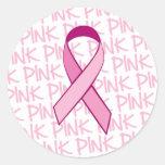 Breast Cancer Awareness Sticker - Pink Ribbon