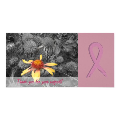 Breast Cancer Awareness Support Photo Card