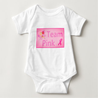 Breast Cancer Awareness Team Pink Butterfly design Baby Bodysuit