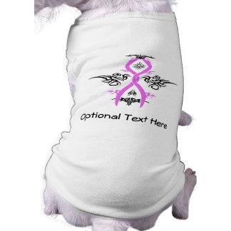 Breast Cancer Awareness Tribal Design Sleeveless Dog Shirt