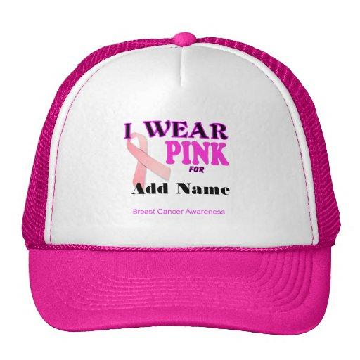 Breast Cancer Awareness Trucker Cap Template Hat