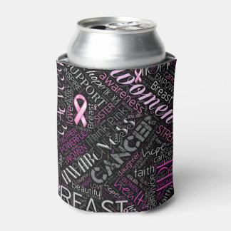 Breast Cancer Awareness Word Cloud ID261 Can Cooler