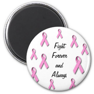 Breast cancer awarness appearal 6 cm round magnet