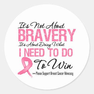 Breast Cancer Battle Round Stickers