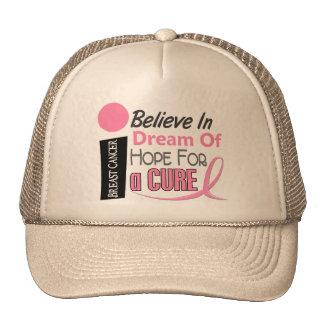 Breast Cancer BELIEVE DREAM HOPE Cap