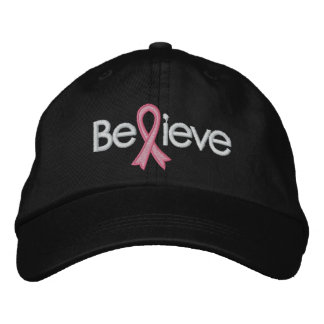Breast Cancer Believe Embroidered Cap