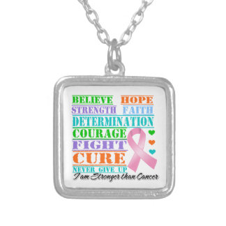 Breast Cancer Believe Strength Determination Pendants