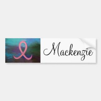 Breast-Cancer   Bold Pink Ribbon Modern Bumper Sticker