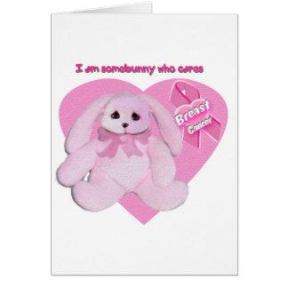 breast cancer bunnies greeting card